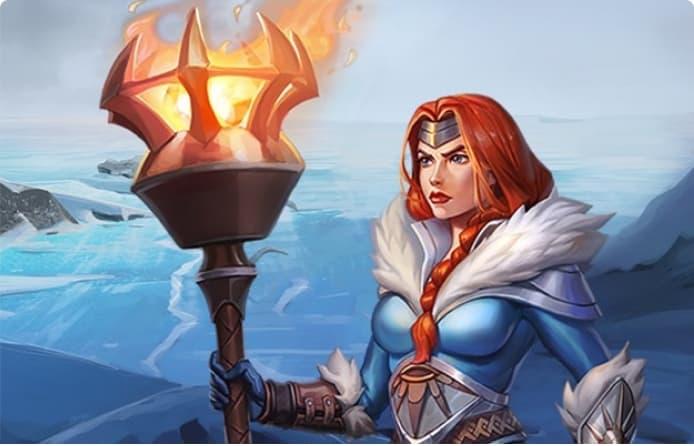 Frozen flame logo